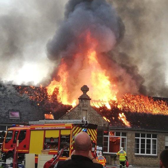 Appel d'urgence : incendie du lycée professionnel St Michel