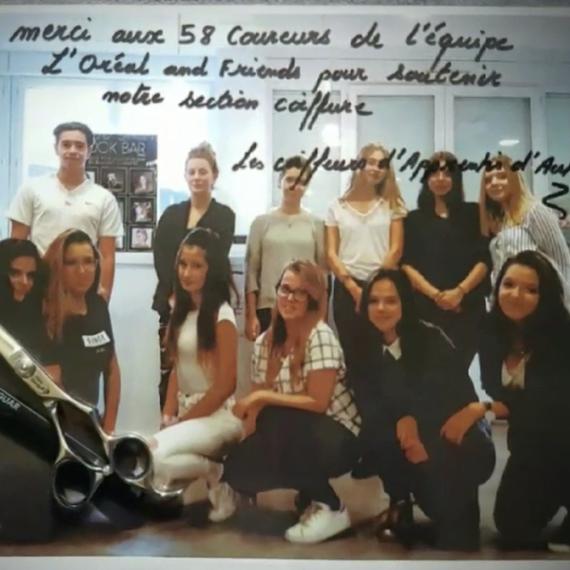 L'Oréal soutient les élèves de la filière coiffure d'Apprentis d'Auteuil